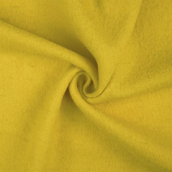 Walkloden-Laura-Walkstoff-100 % Wolle-Gelb