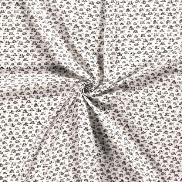Musselin-Bärbel-Regenbögen-Grauweiss