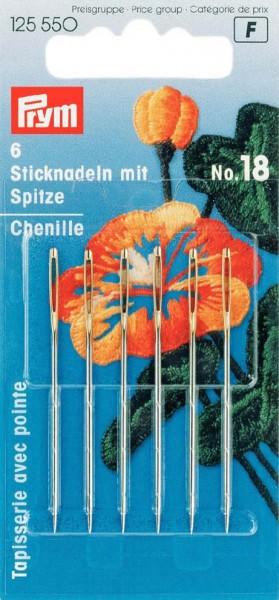 Sticknadeln mit Spitze, Nr. 18, 1,20 x 50mm