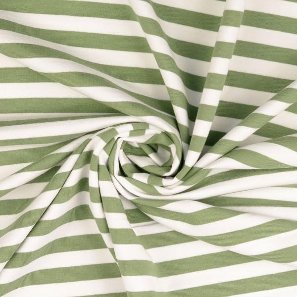 Elastic-Jersey-Streifen-Altgrün