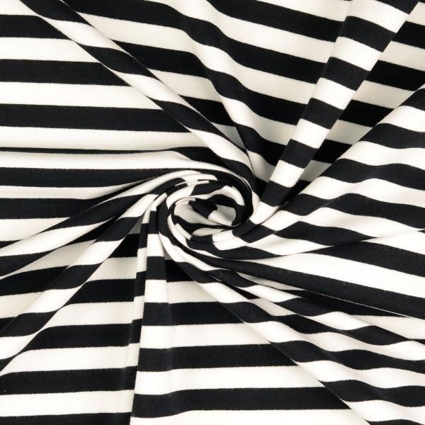 Elastic-Jersey-Streifen-Schwarz