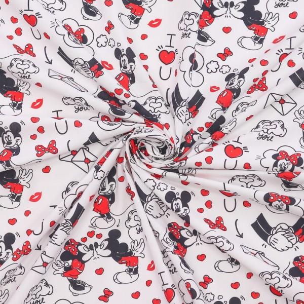 Mickey & Minnie-Baumwolle-Love