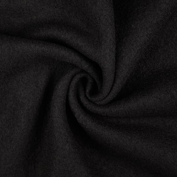 Walkloden-Laura-Walkstoff-100 % Wolle-Schwarz