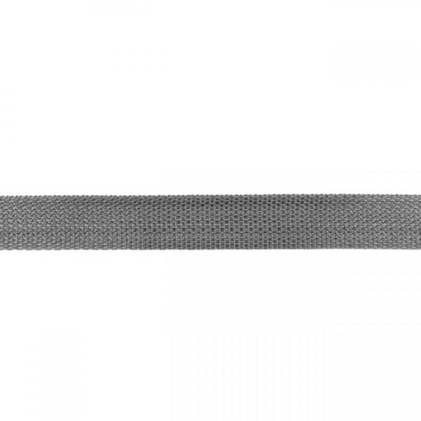 Gurtband-25 mm-Polypropylen-Mittelgrau