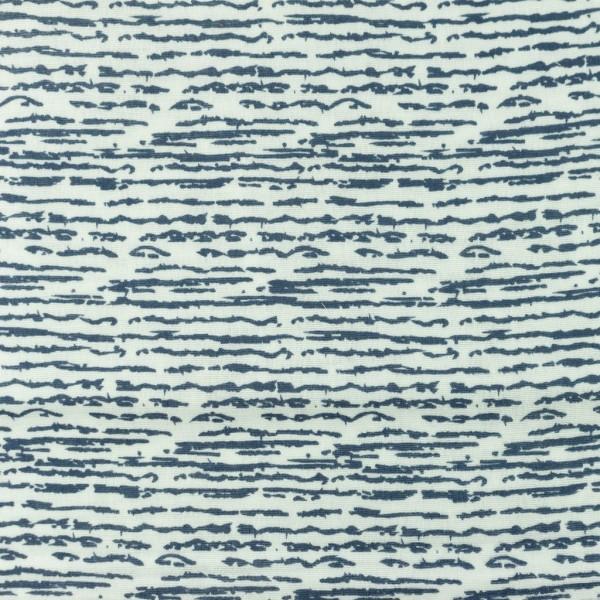 Organic Musselin-Rasterstreifen-Blau
