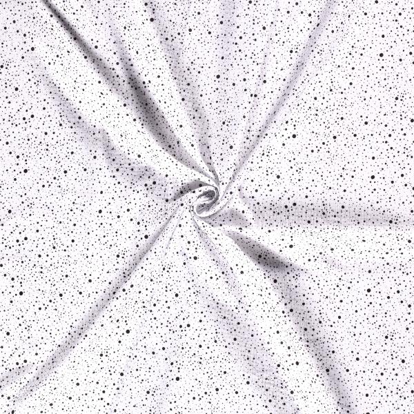 Musselin-Bärbel-Punkte-Weiss