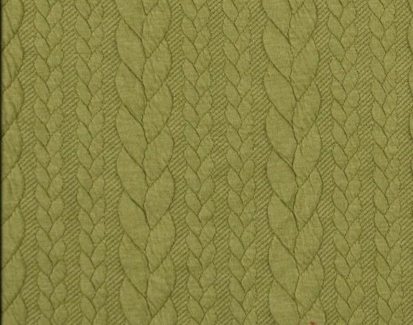 Zopfstrick-Jaquard-Hellgrün