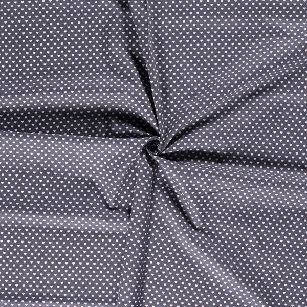 Baumwolle-Herzen-Stahlblau