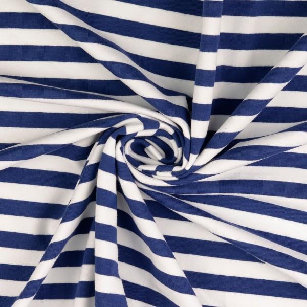 Elastic-Jersey-Streifen-Blau