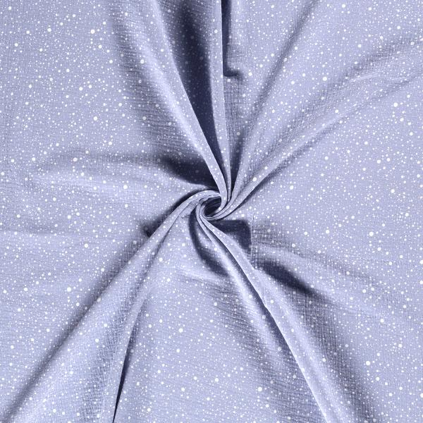 Musselin-Bärbel-Punkte-Babyblau