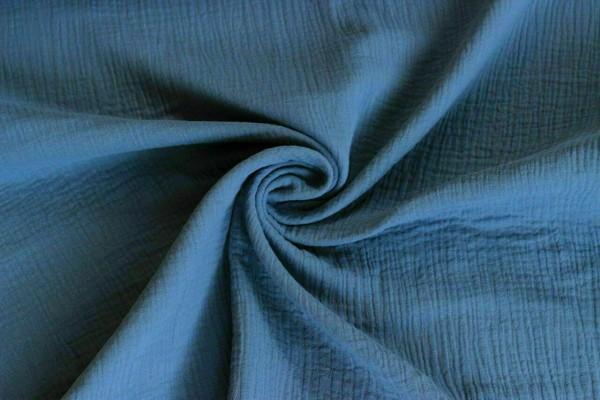 Musselin-Leonie-Uni-Jeansblau