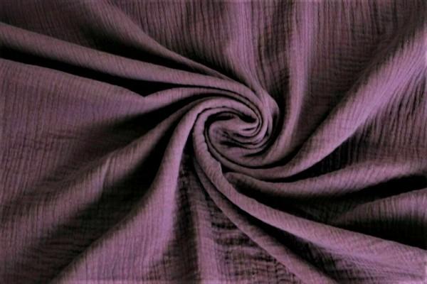 Musselin-Leonard-dreilagig-Uni-Violett
