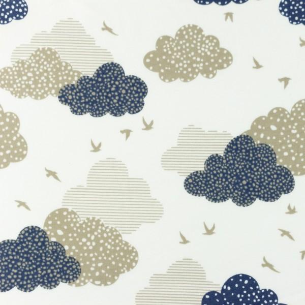 Jersey-Gepunktete Wolken-Jeans