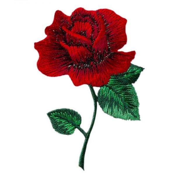 Aufbügler & Applikation-Rose