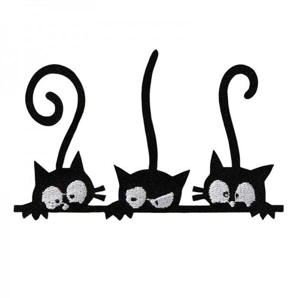 Aufbügler & Applikation-Katzen