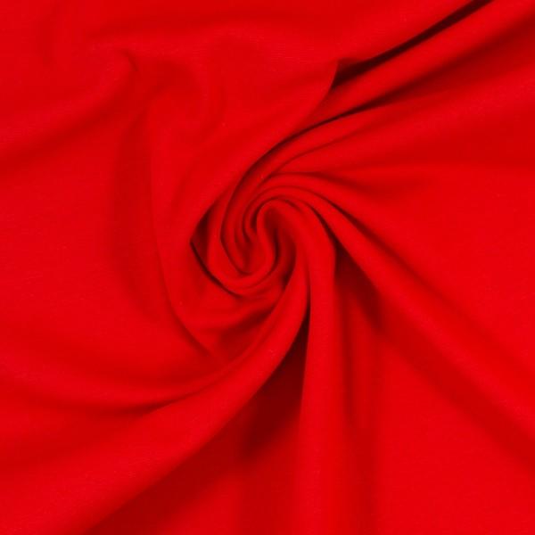 Bündchen-Heike-50er Schlauch-glatt-Rot
