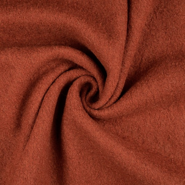 Walkloden-Laura-Walkstoff-100 % Wolle-Rotorange