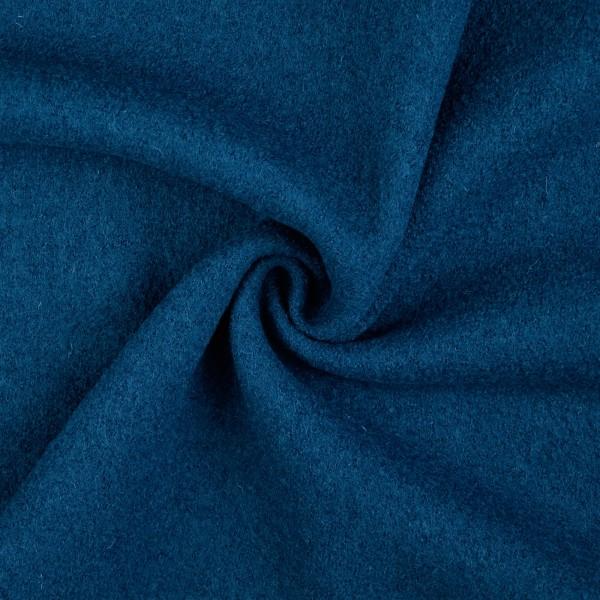 Walkloden-Laura-Walkstoff-100 % Wolle-Kobaltblau
