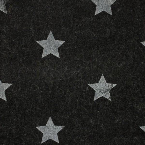 3,0 mm Filz-Stars-90 cm breit-Dunkelgrau meliert
