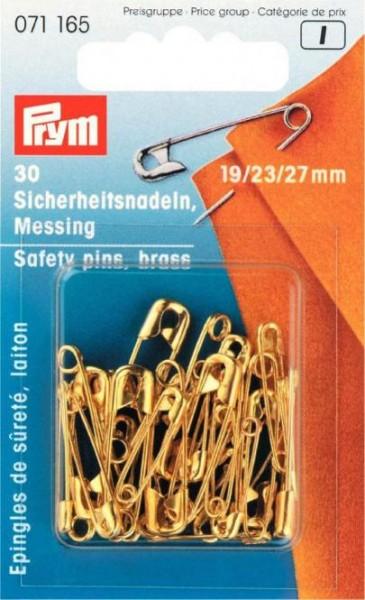 Sicherheitsnadeln, 19/23/27mm, sortiert, goldfarbig, 30 Stück