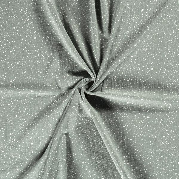 Musselin-Bärbel-Punkte-Dunkel Minze