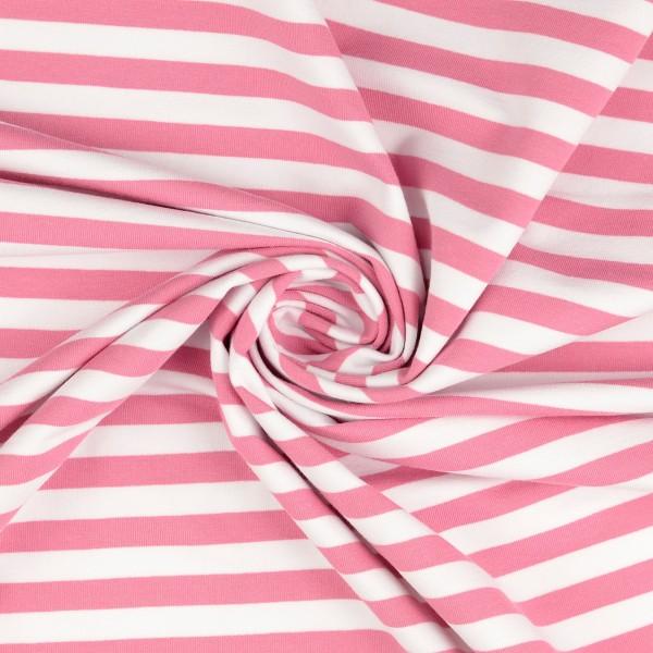 Elastic-Jersey-Streifen-Rosa