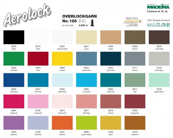 Overlockgarn-No.125-2500 Meter-34 Farben
