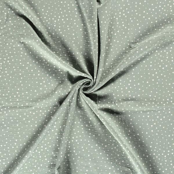 Musselin-Bärbel-Dreiecke-Dunkel Mint