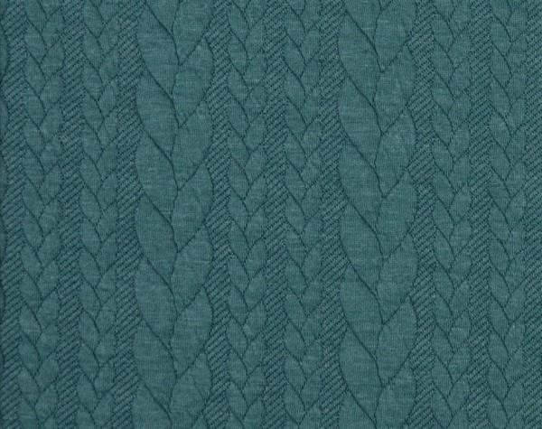 Zopfstrick-Jaquard-Blaugrün