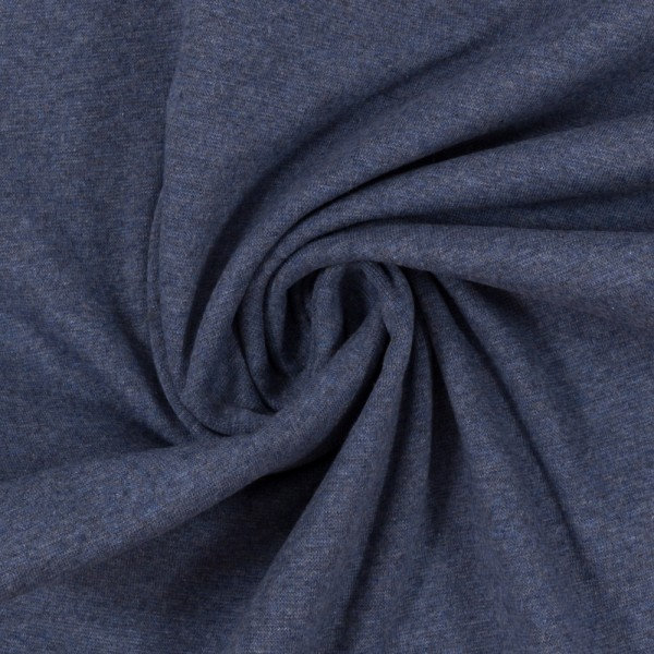 French Terry-Maike melange-Jeansblau