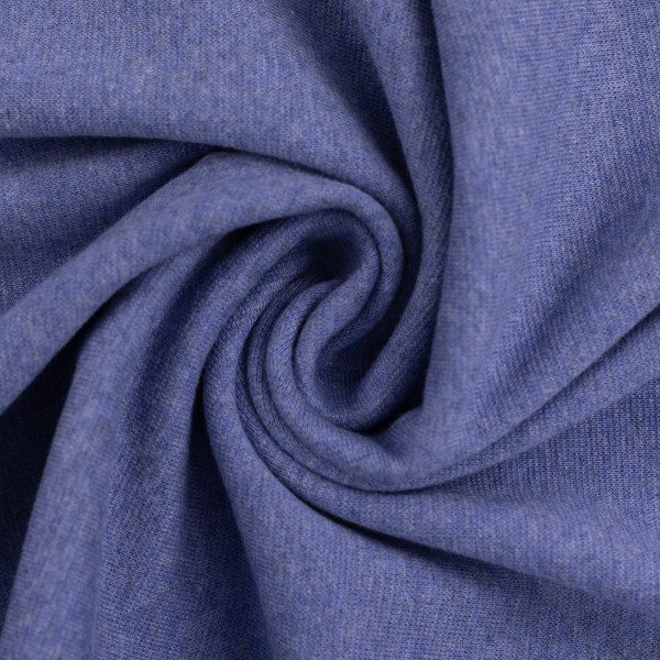 Bündchen-Heike melange-48er Schlauch-Blau