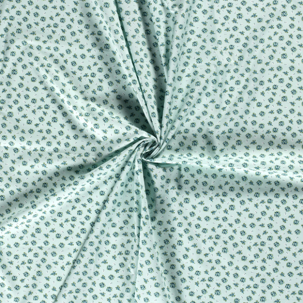 Baumwolle-Blumen-Limettengrün