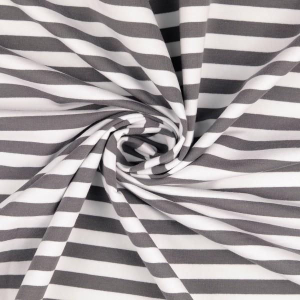 Elastic-Jersey-Streifen-Grau