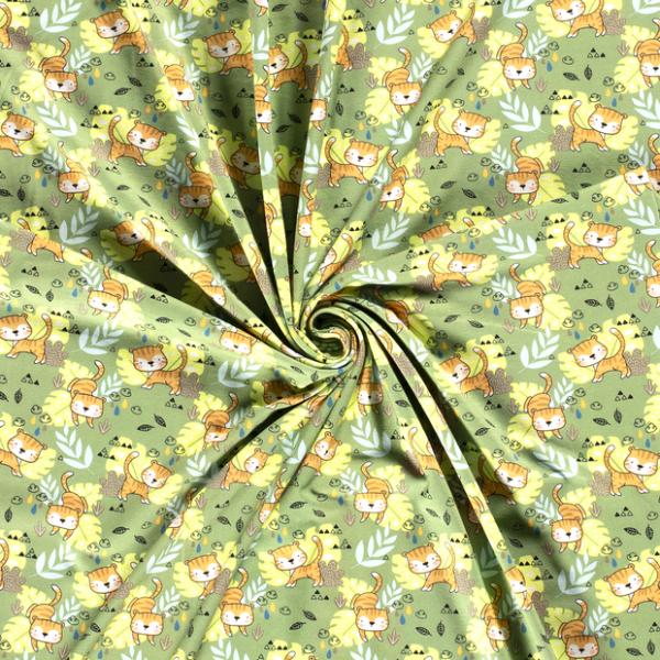 Jersey-Spielende Katze-Grün