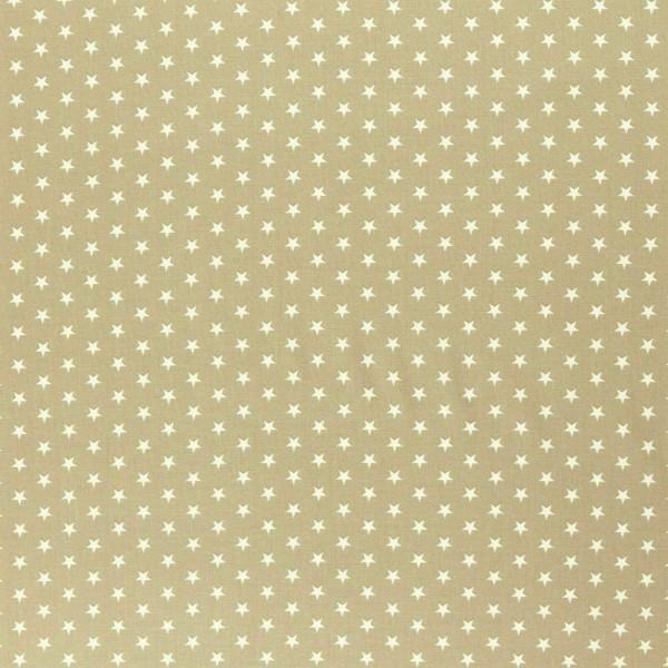 Baumwolle-Carrie-Sterne-Beige