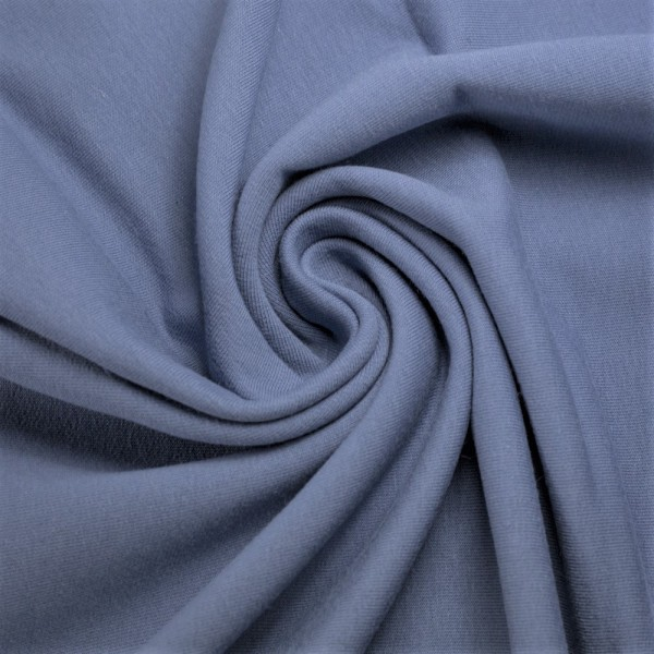 Bündchen-Heike-50er Schlauch-glatt-Jeansblau