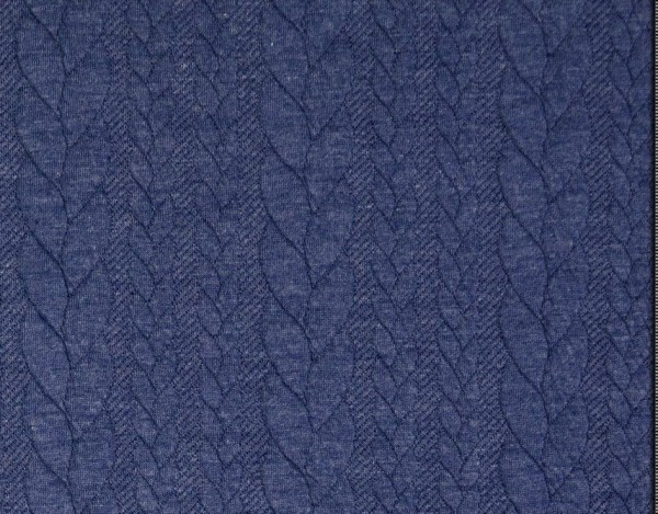 Zopfstrick-Jaquard-Blau