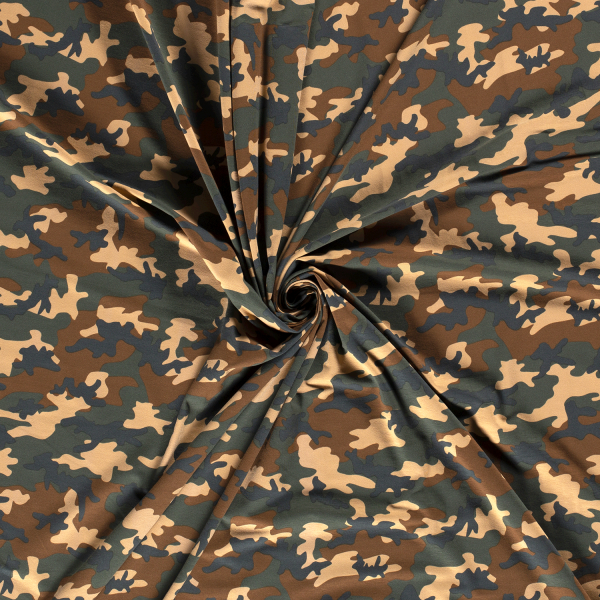 Jersey-Camouflage-Grün