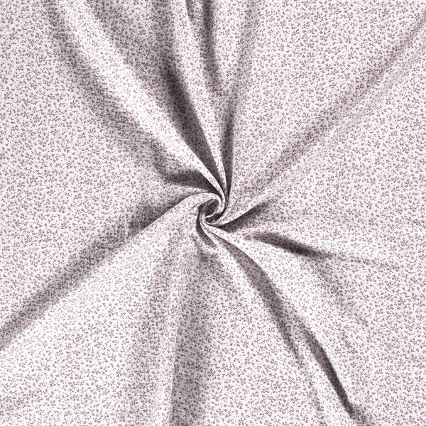 Musselin-Bärbel-Kleine Blumen-Hellgrau