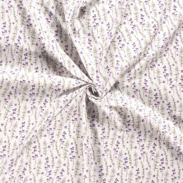 Musselin-Pflanzen-Grauweiss