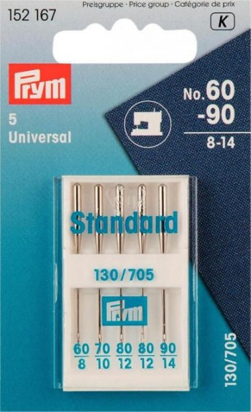"Prym Nähmaschinennadeln 130/705 ""Standard"", 60-90"