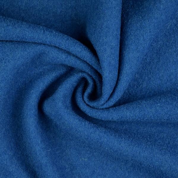 Walkloden-Laura-Walkstoff-100 % Wolle-Verkehrsblau