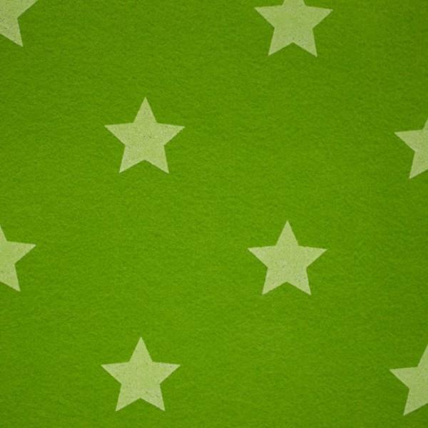 3,0 mm Filz-Stars-90 cm breit-Lime