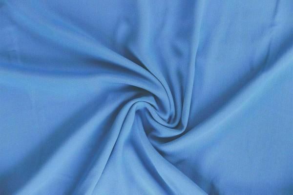 Viskose-Krepp-Georgette-Blau