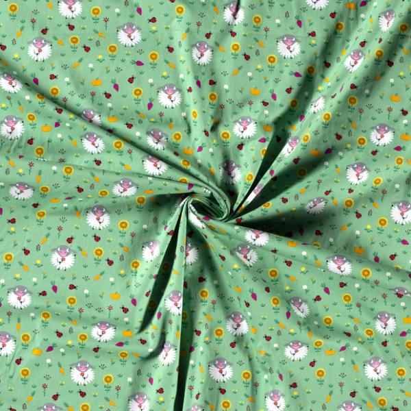 Baumwolle-Schäfchen-Grün