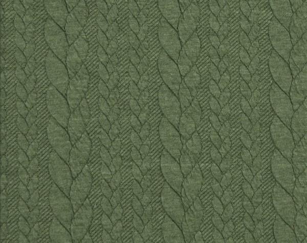 Zopfstrick-Jaquard-Pastel Grün