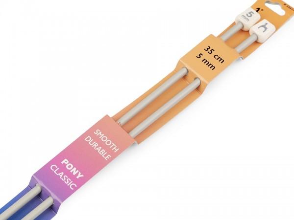 Stricknadeln-2 Stück-35 cm Länge-4,5 mm Durchmesser