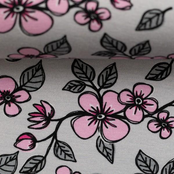 Jersey-Blumen-Beige