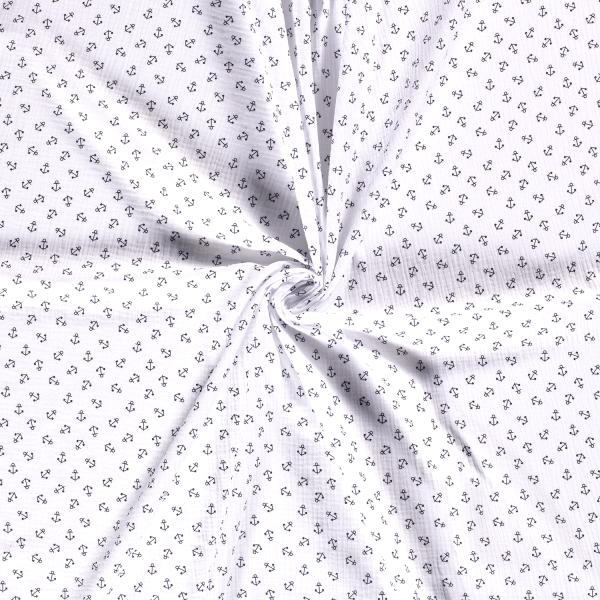 Musselin-Bärbel-Anker-Weiss