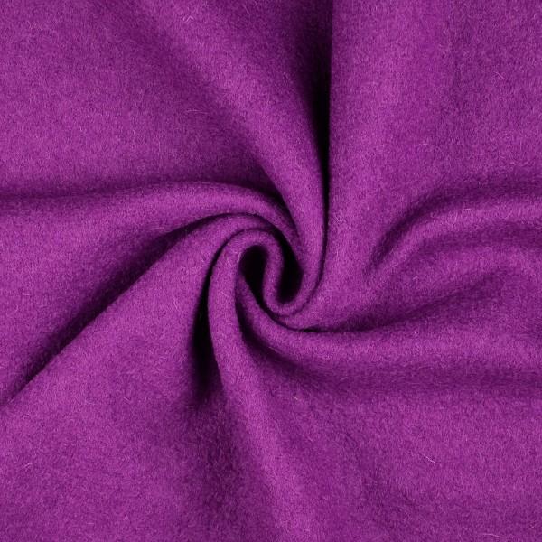 Walkloden-Laura-Walkstoff-100 % Wolle-Purpurviolett